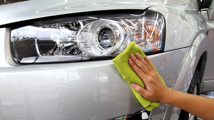 hand drying car headlamp